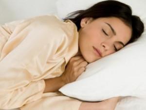 Phụ nữ trung niên ngủ ngon