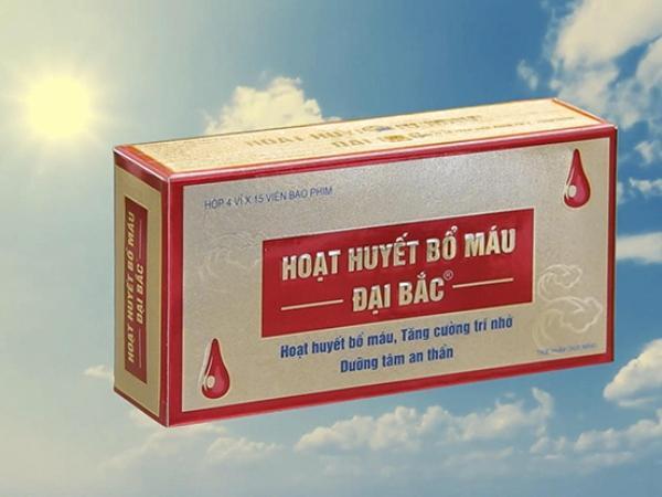 hoạt huyết bổ máu đại bắc hỗ trợ điều trị thiếu máu não cực tốt