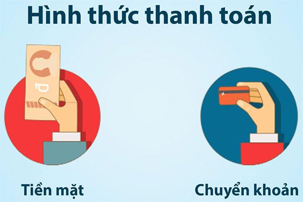 Quy định và hình thức thanh toán trên hoathuyetbomau.vn