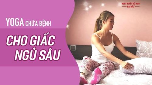 Bài tập yoga trị mất ngủ đau đầu
