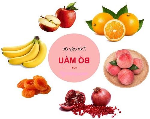 Những loại trái cây bổ máu