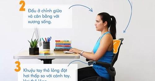 Tư thế ngồi làm việc giảm mỡ bụng